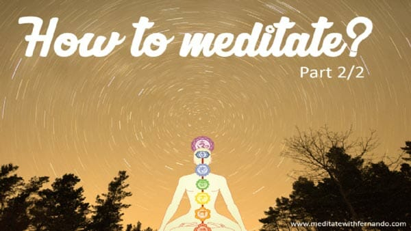 How to meditate, simple exercise.
