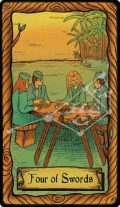 The Conspiracy Tarot: four of swords