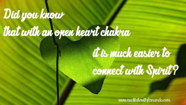 Empower your connection with Spirit with an open heart chakra. Heal your fourth chakra.