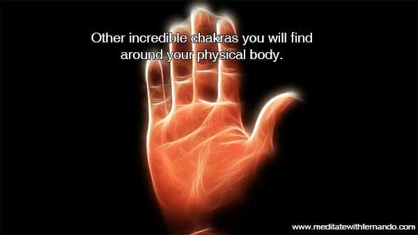 The hand chakras give healing.