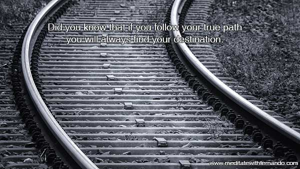 With following your path, you reach your destination, even during transition times.