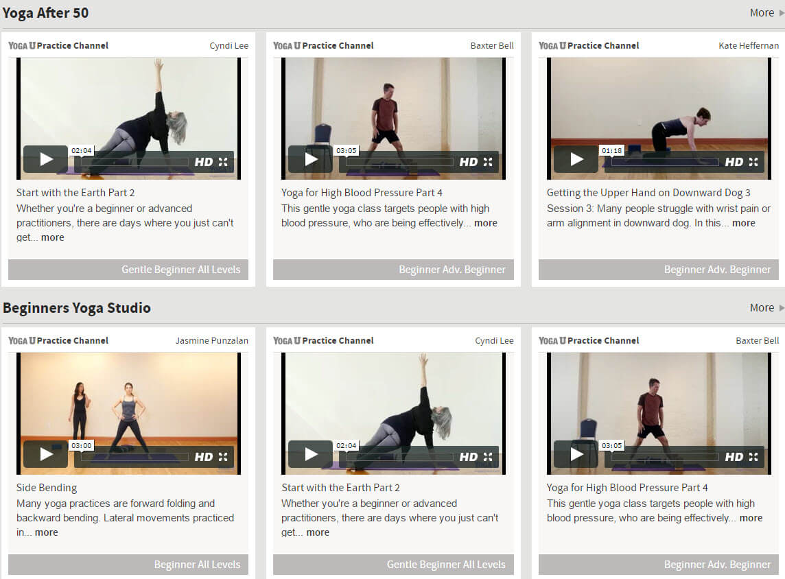Yoga University Online Over 50