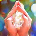 Hand holding jewel