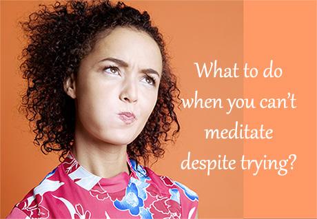 Frustration in Meditation Photo