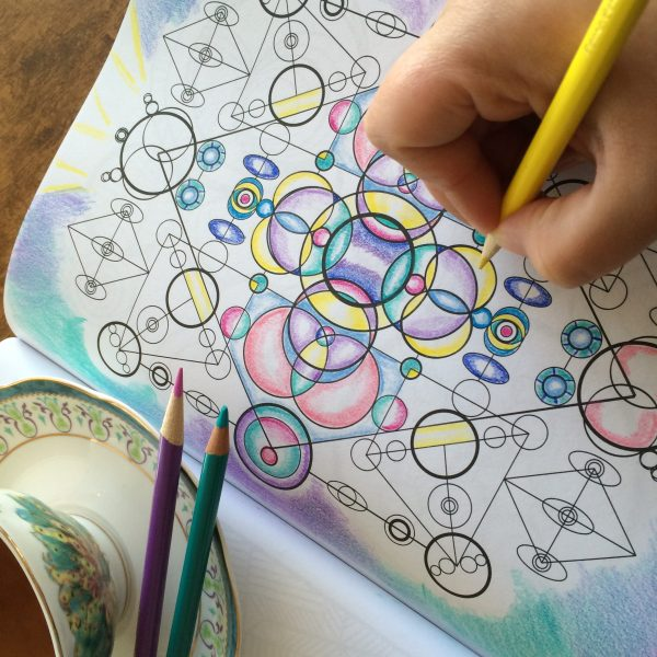 geometric design with pastel colors