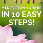 How to create a pink meditation corner in 10 easy steps
