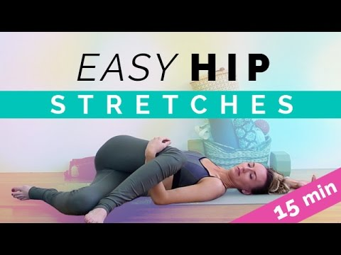 easy hip opening stretches 15min hip stretch yoga for