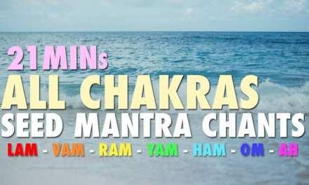 21 Mins |  All Chakras | Seed Mantra Chants