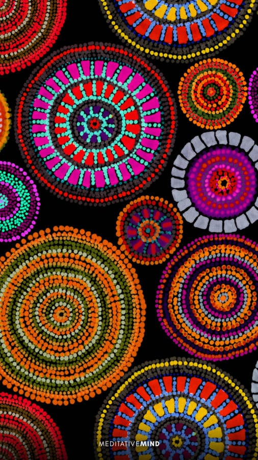 Aboriginal Dot Art Wallpaper - meditative mind