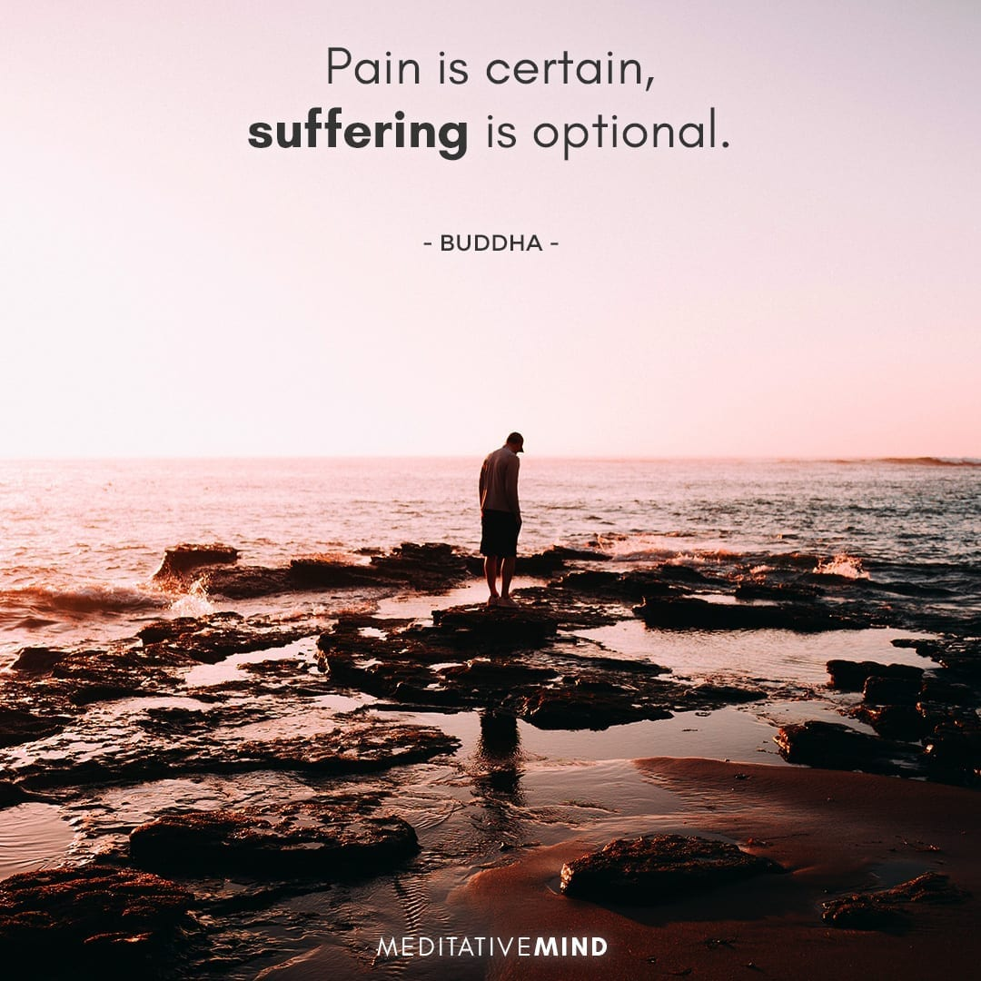 Pain is certain, suffering is optional.