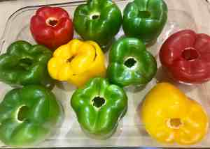 Peppers ready to be stuffed