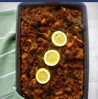 Albanian Tave Me Presh - Mediterranean Leek Casserole