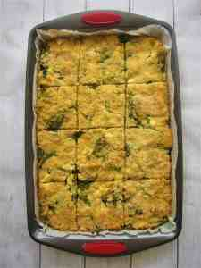Albanian Shapkat or Spinach Corn Pie Casserole