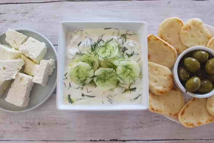 Dill and Cucumber Cold Soup, called Tarator in Albania