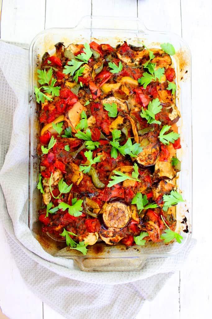 Vegan Vegetable Medley - A Mediterranean Casserole