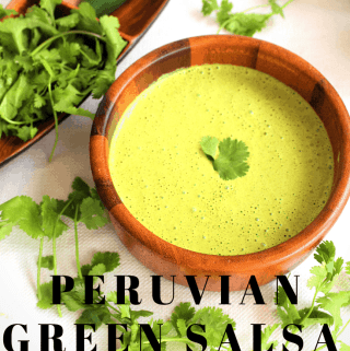 Peruvian Aji Verde or Salsa Verde (Spicy Green Sauce with Huacatay)
