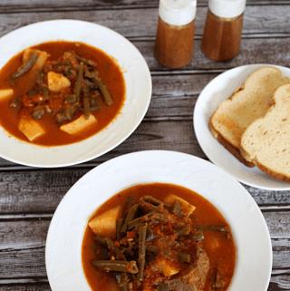 Green Beans Stew inspired by Albanian Gjelle me Mashurka or Bishtaja