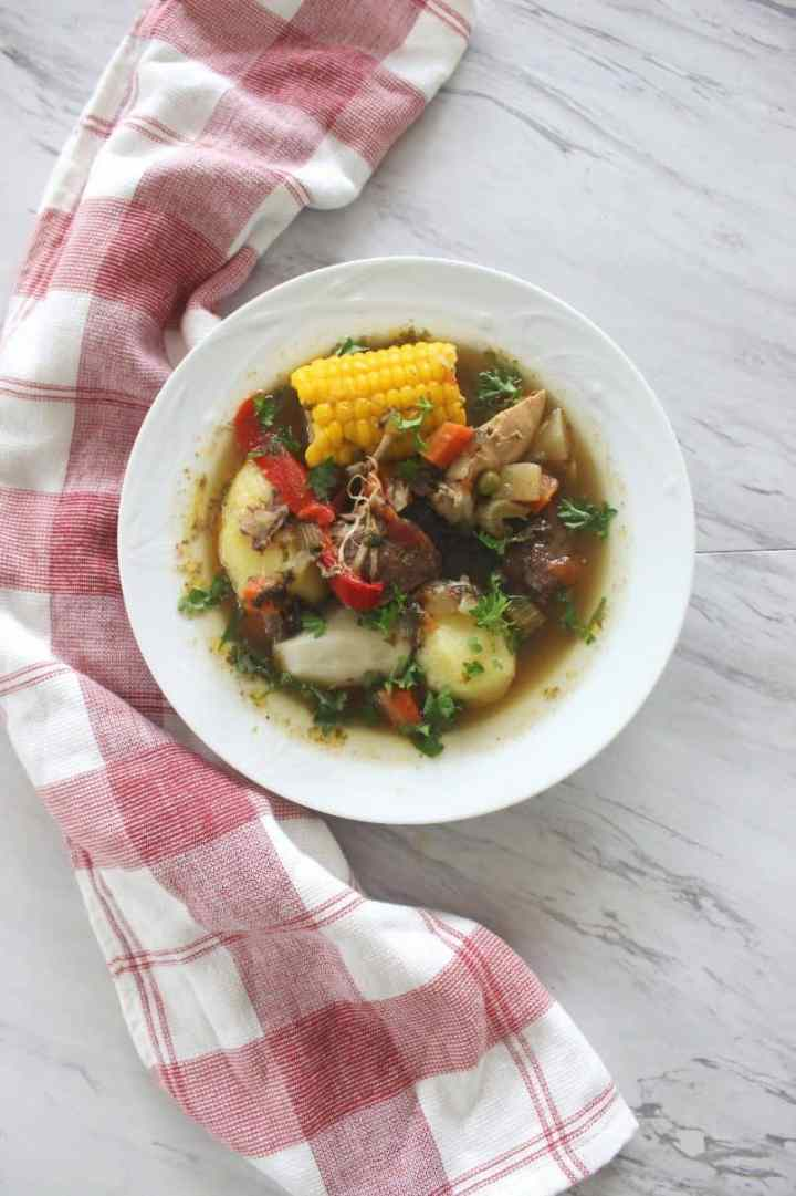 This Bolivian Picana inspired soup is a traditional soup for Christmas Eve dinner (Nochebuena) in Bolivia, but I can honestly eat this anytime.