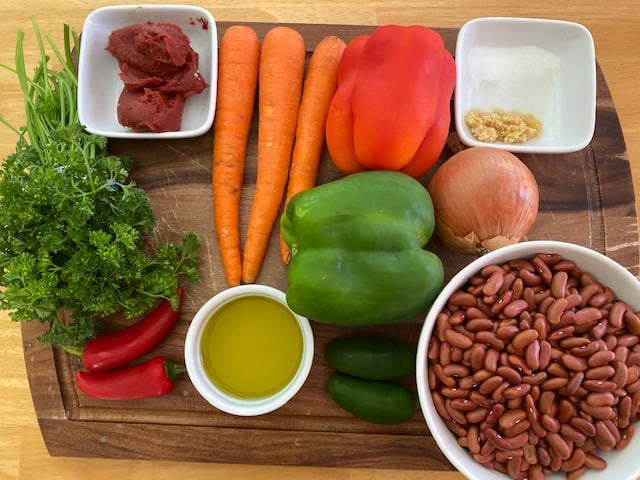 Ingredients used to cook Red Kidney Beans Soup