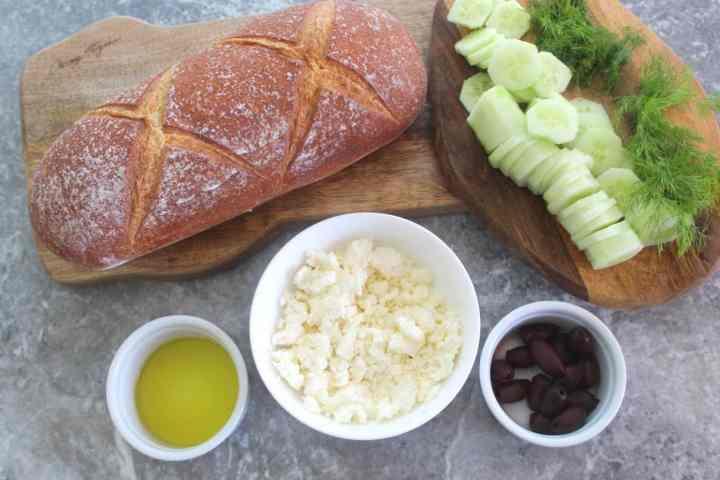 Ingredients for Mediterranean Crostini