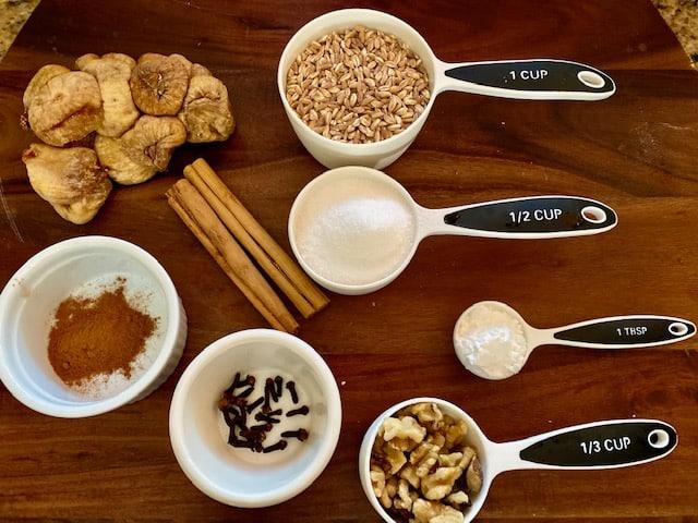 Farro Pudding Ingredients