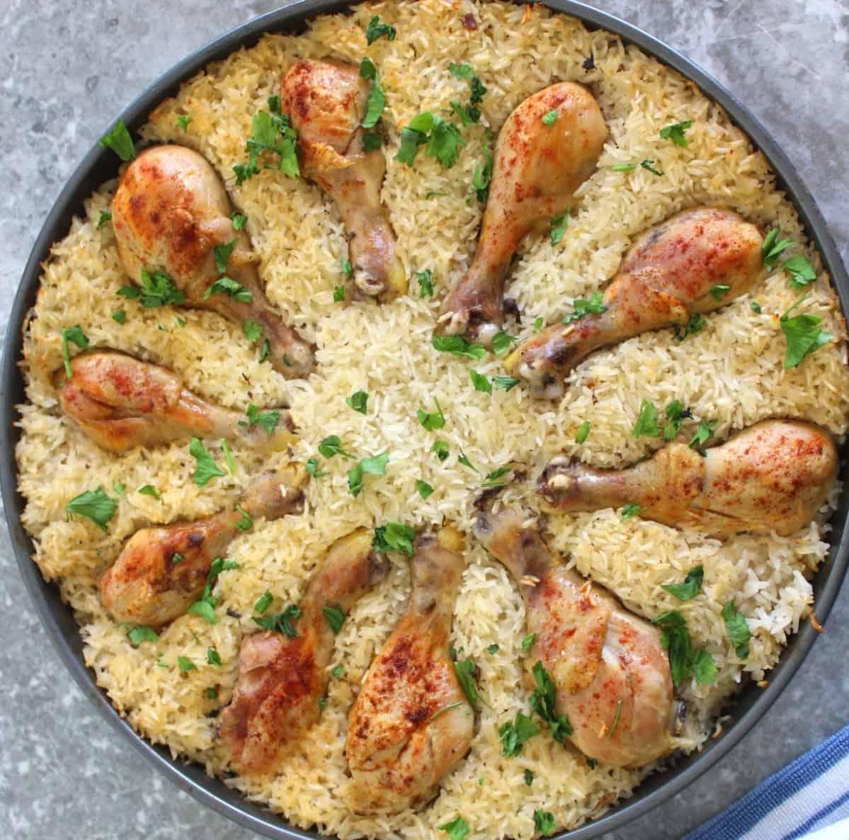 Baked Chicken & Rice - Mediterranean Latin Love Affair