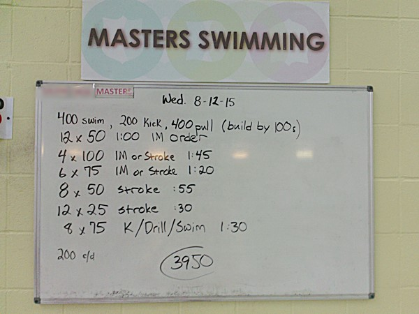 Converting A Masters Workout