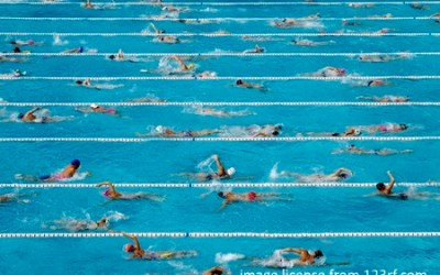 When Swimming In A Crowded Lane