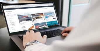 E-commerce website development image