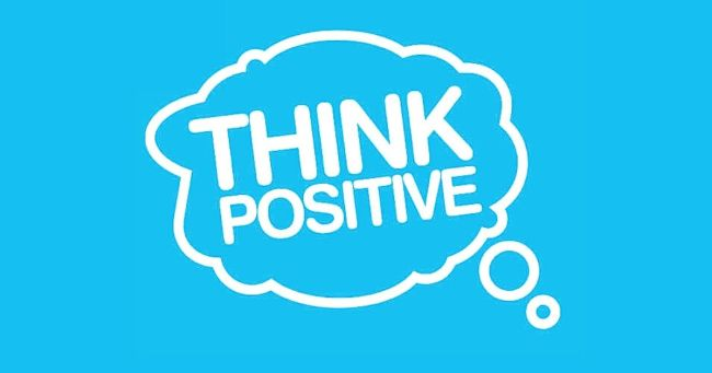 think positive or think positively