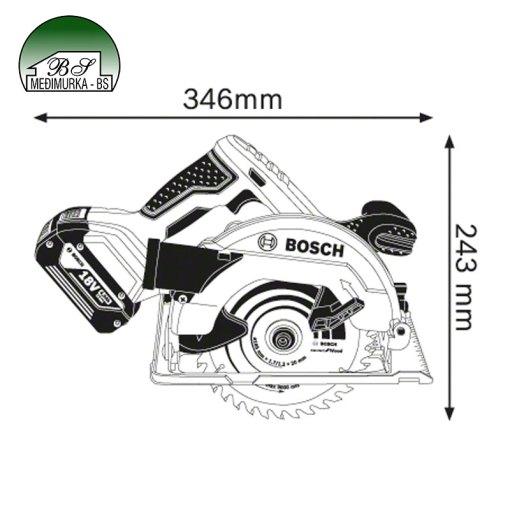 Akumulatorska kružna pila Bosch GKS 18V-57 Professional