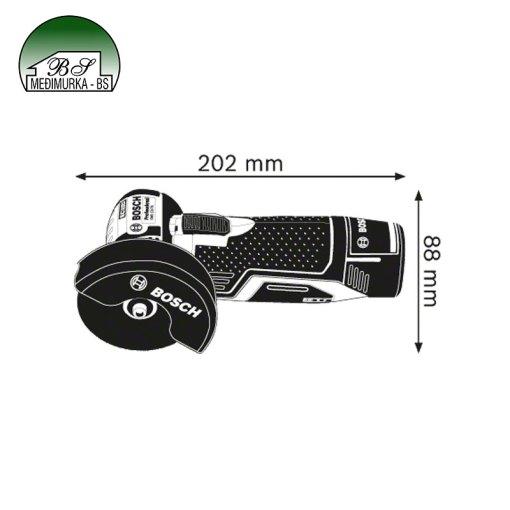 Akumulatorska kutna brusilica Bosch GWS 12V-76 Professional