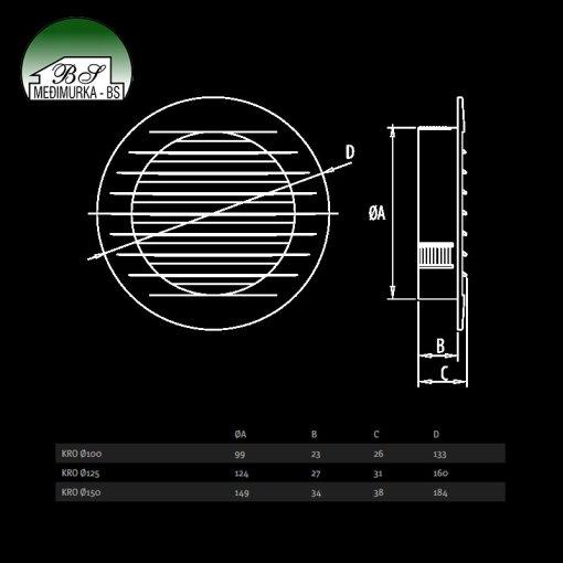 KRO - ventilacijske rešetke