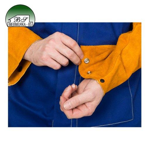 Jakna za zavarivanje sa kožnim rukavima Yellowjacket