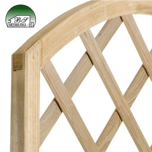 Drvena rešetka za penjačice