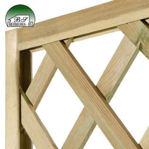 Drvena rešetka za penjačice s teglom