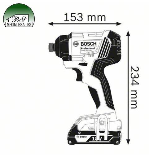 Akumulatorski udarni stezač GDR 180-LI Professional BOSCH