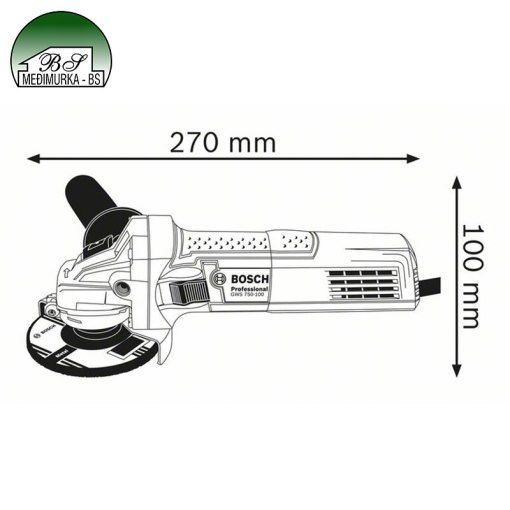 Kutna brusilica GWS 750 S Professional BOSCH