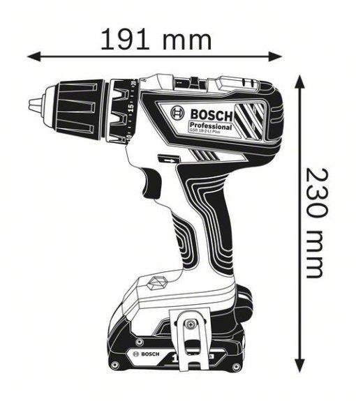 Akumulatorska bušilica-izvijač GSR 18-2-LI Plus Professional