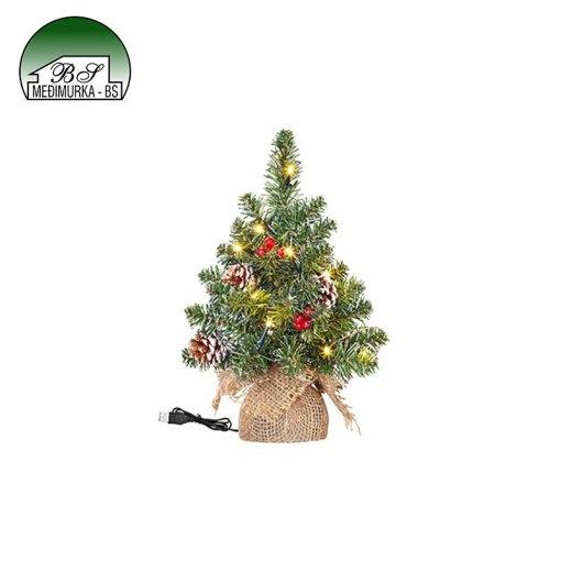 Mini umjetno božićno drvce sa lampicama