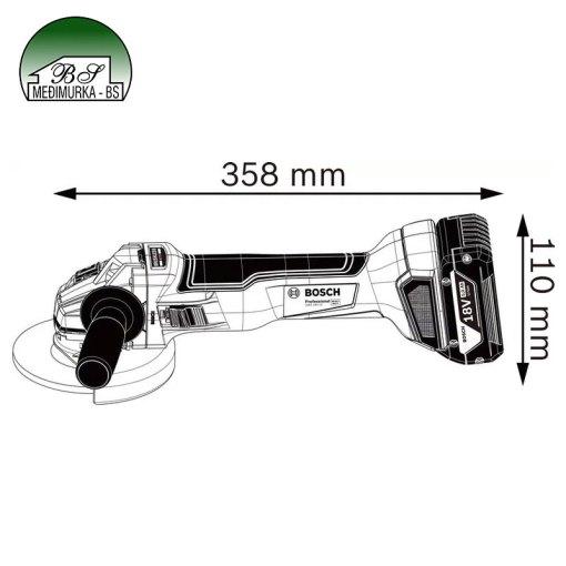 Akumulatorska kutna brusilica GWS 18V-10 Professional
