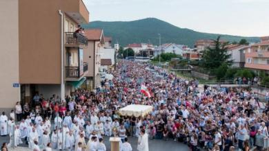 Photo of Today is the feast of the Most Holy Body and Blood of Christ (CORPUS CHRISTI). In Medjugorje procession.