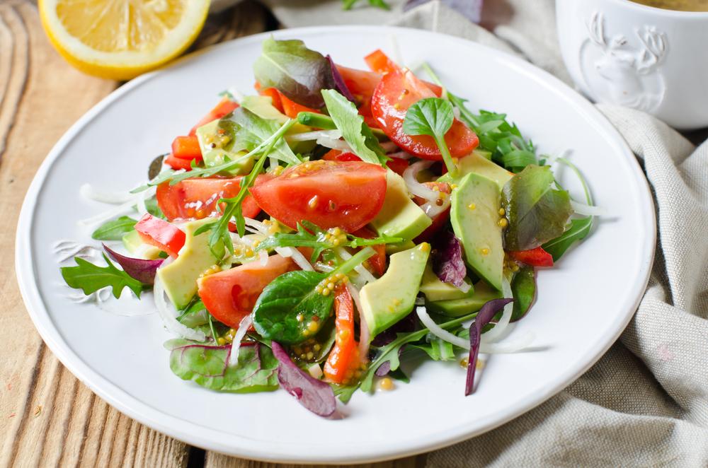 Alkaline Diet Avacado Tomato Spinach Salad
