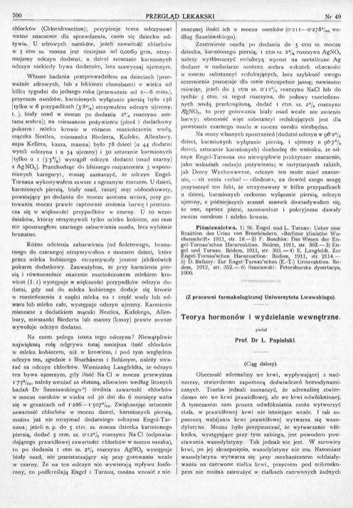 Teorja hormonów i wydzielanie wewnętrzne. St. 6