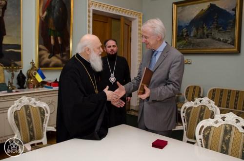 Нагородження професора І. Гука орденом святого князя Володимира II ступеня