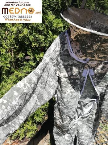 Pčelarsko odijelo ( kombinezon ) 3D ventilacijsko maskirno ,šešir okrugli model -Ventilation suit 3D, camouflage (soft material and breathable material ) , round hat