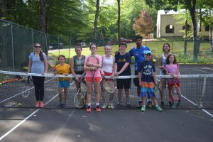 campers playing tennis