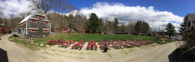panoramic view of camp