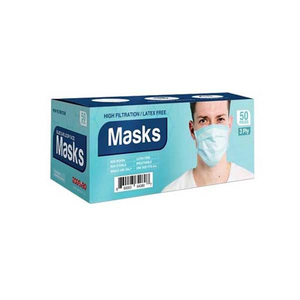 Disposable 3 Play Face Mask-Pack Of 50-Medical Product For Virus Protection