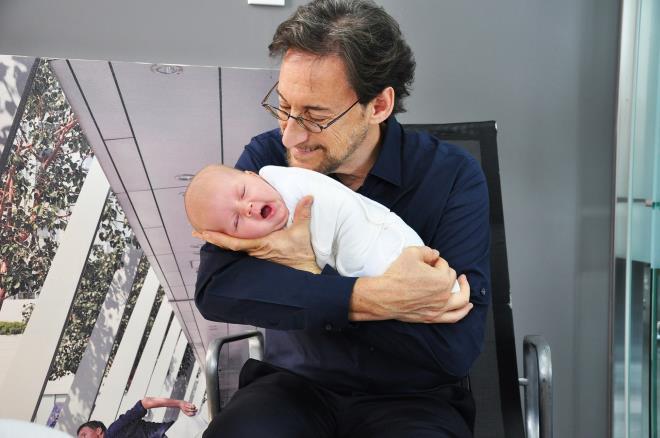 Укладывание новорожденного
